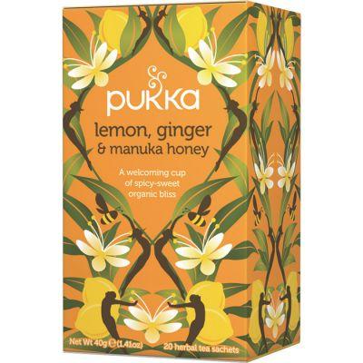 Lemon Ginger & Manuka, 20 tepåsar ekologisk