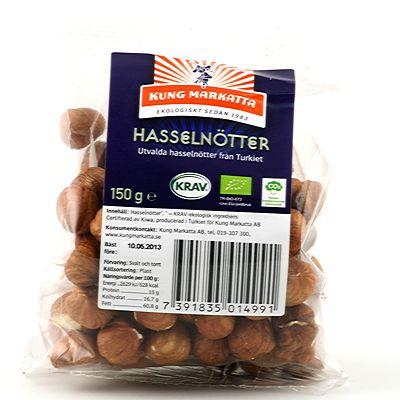 Hasselnötter, 150g ekologisk