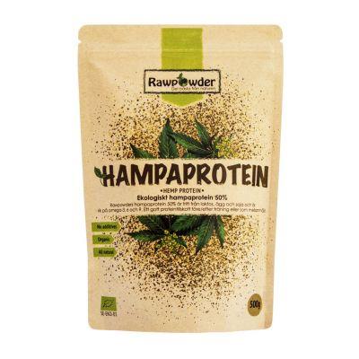rawpowder hampaprotein 50-500g pulver ekologisk