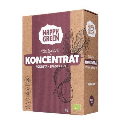Happy Green Koncentrat Rödbetsjuice Bag-in-Box 3l ekologisk