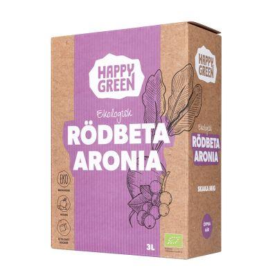 Happy Green Rödbeta Aronia juice Bag-in-Box 3l ekologisk