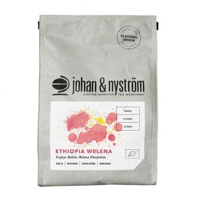 Johan & Nyström Ethiopia Welena Organic Hela Bönor – Ekologiskt Kaffe