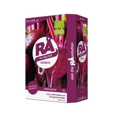 Rå Rödbeta Bag-in-Box 3l – Ekologisk rödbetsjuice i en 3 liters bag-in-box