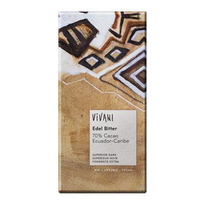 Mörk Choklad 70% Ecuador, 100g ekologisk