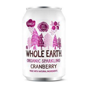 whole earth organic sparkling cranberry 33cl ekologisk