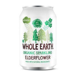 whole earth sparkling organic elderflower 33cl ekologisk