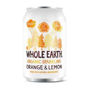 whole earth sparkling organic orange och lemon 33cl ekologisk