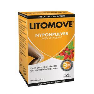 Litomove nyponpulver, 100 kapslar