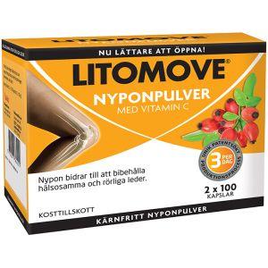 Litomove nyponpulver, 2 x 100 kapslar