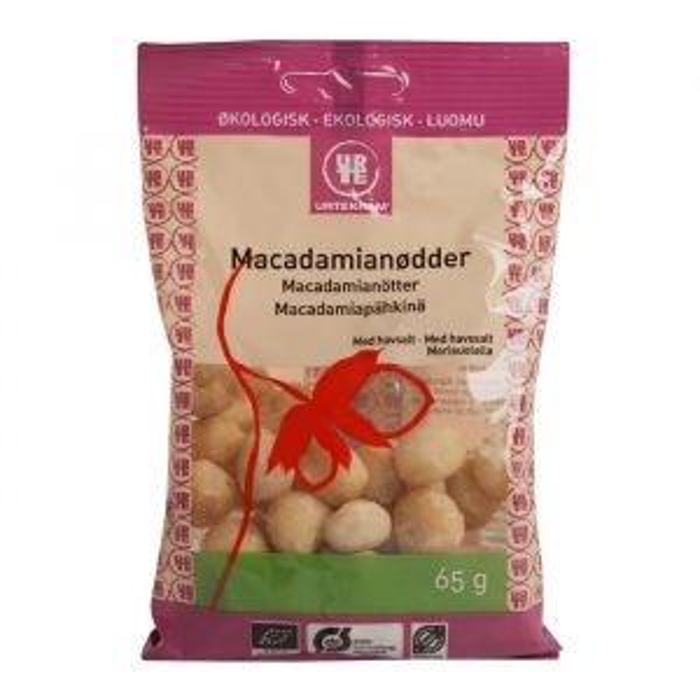 Macadamianötter havssalt, 65g ekologisk