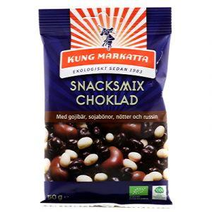 Snacksmix Choklad, 50g ekologisk