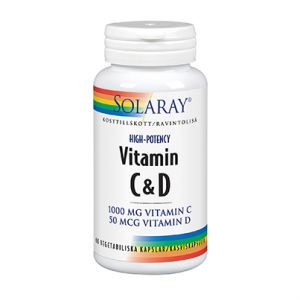Vitamin C & D 1000mg / 50 tabletter