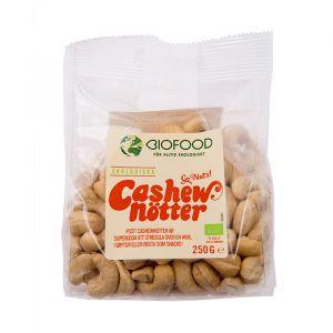 biofood cashewnotter hela 250g ekologisk