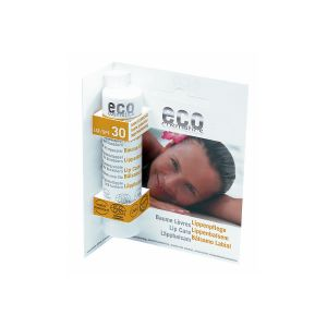 Eco Cosmetics Läppbalsam SPF30, 4g ekologisk
