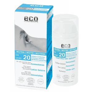 Eco Cosmetics SPF20 Sollotion neutral, 100ml ekologisk