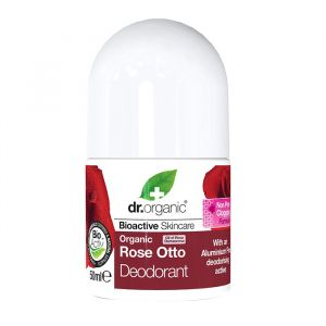 Dr Organic Rose Otto Deodorant, 50ml roll-on ekologisk