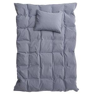 Påslakanset Dubbel Crinkle Dusty Blue, 220 x 230 cm - Ekologiska sängkläder