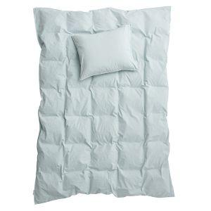 Påslakanset Dubbel Crinkle Sky, 220 x 230 cm - Ekologiska sängkläder