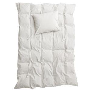 Påslakanset Enkel Crinkle Light Grey, 150 x 210 cm - Ekologiska sängkläder