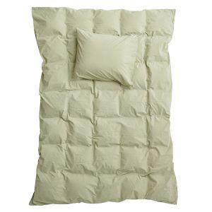 Påslakanset Enkel Crinkle Pistage, 150 x 210 cm - Ekologiska sängkläder