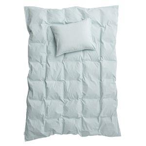 Påslakanset Enkel Crinkle Sky, 150 x 210 cm - Ekologiska sängkläder