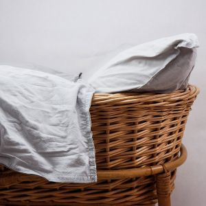 AB Småland Spjälsäng Påslakanset Light Grey – Ekologiska sängkläder