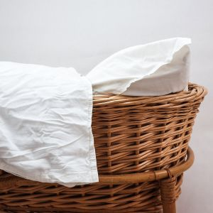 AB Småland Spjälsäng Påslakanset Off White – Ekologiska sängkläder