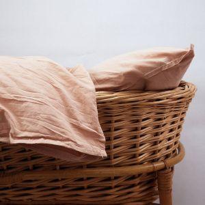 AB Småland Spjälsäng Påslakanset Peach Pink – Ekologiska sängkläder
