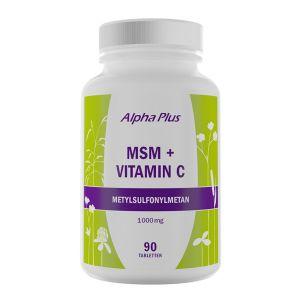 Alpha Plus MSM + Vitamin C  – Ett kosttillskott