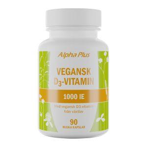 Alpha Plus Vegansk D3 vitamin 1000IE – Kosttillskott med D-vitamin