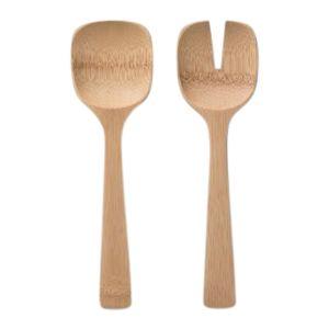 Bambu Home Salladsbestick Korta Bambu – miljövänliga köksredskap