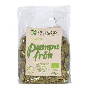 Köp Biofood Pumpafrön 250g - ekologisk på happygreen.se