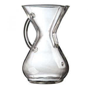 Chemex Classic 6 koppar Glashandtag – kaffebryggare för handbryggt kaffe