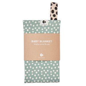 Coracor Babyfilt Big Dot Green – Filt i ekologiskt GOTS-certifierad bomull