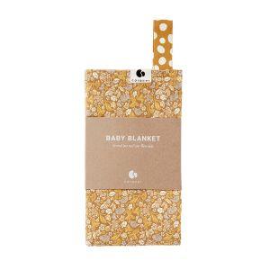 Coracor Babyfilt Tinyflower Honey – Filt i ekologiskt GOTS-certifierad bomull