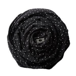 Coracor Bärsjal Small Dot Black – Bärsjal i ekologiskt GOTS-certifierad bomull