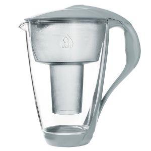 Vattenrenare glas stålgrå, 2 L