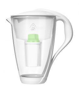 Vattenrenare Glas Vit 2,0 L & Alkaline Up Filter PH +