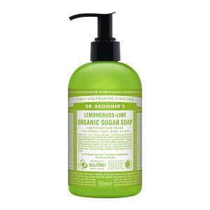 Sugar Soap Lemongrass-Lime, 355ml ekologisk