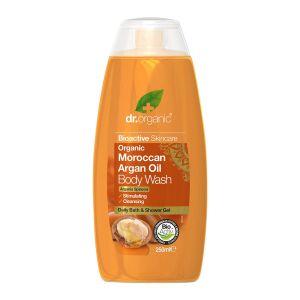 dr organic moroccan argan oil body wash 250ml ekologisk