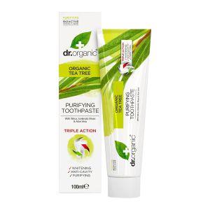 dr organic tea tree toothpaste 100ml ekologisk