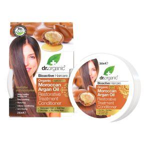 Dr Organic Moroccan Argan Oil Restorative Treatment Conditioner, 200ml ekologisk
