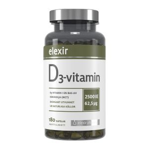 Elexir D3-vitamin, 180 kapslar
