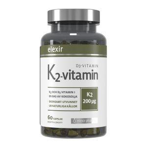 Elexir Pharma K2+D3-vitamin 60 kapslar