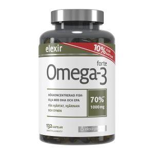 Elexir Omega-3, 1000 mg, i förpackning om 132 kapslar