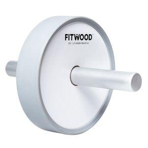 Kjerag Roller Exercise Wheel, Vit & aluminum