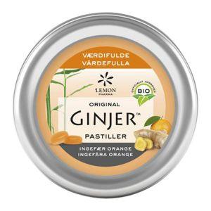 Ingefära Apelsin Pastiller, 40 g ekologisk