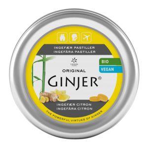 Ingefära Citron Pastiller, 40 g ekologisk