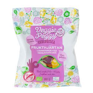 Veggie Peggy Frukthjärtan – veganskt godis