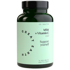 MSM + Vitamin C, 120 tabletter